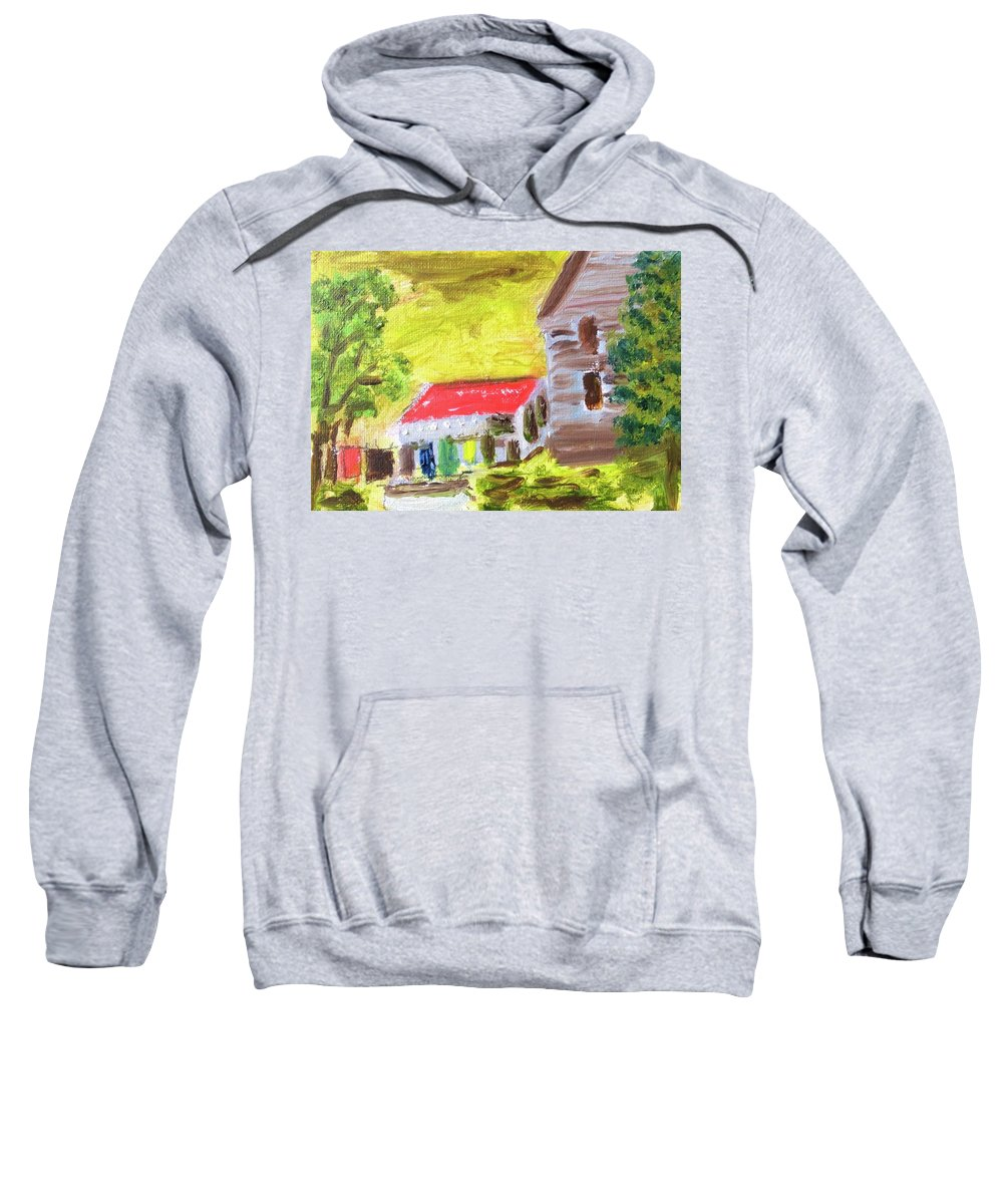 Oil Painting Sweatshirt featuring the painting Country Squier by John Russo
