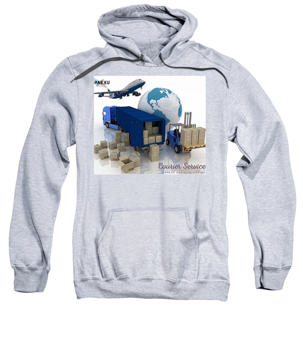 Sweatshirt featuring the photograph Courier Services by Danexu