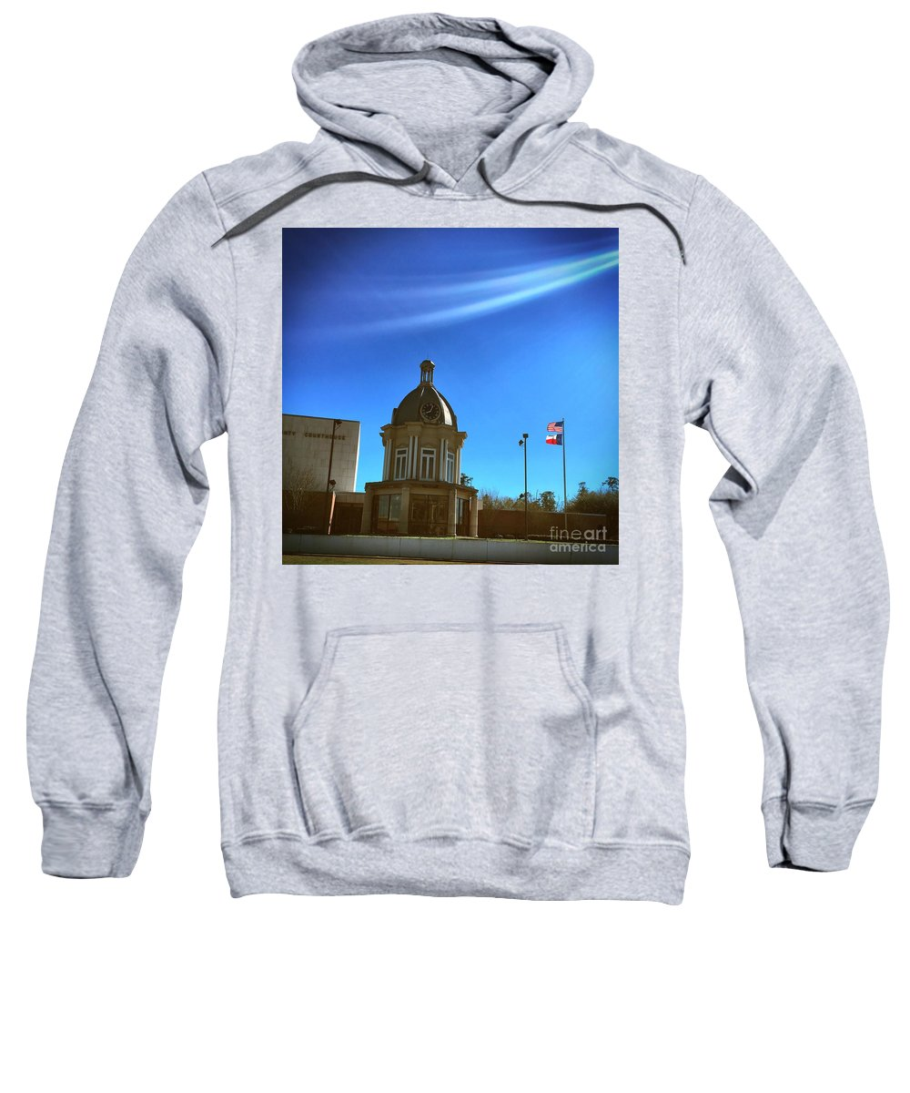 American Sweatshirt featuring the photograph Courthouse And Flags by John W Smith III