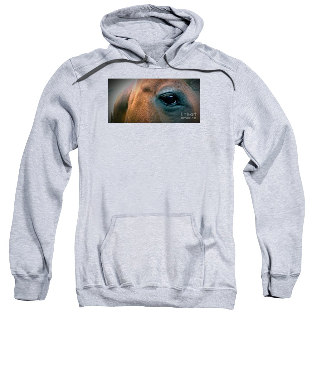 Horse Sweatshirt featuring the photograph Cowgirls Heart by LKB Art and Photography