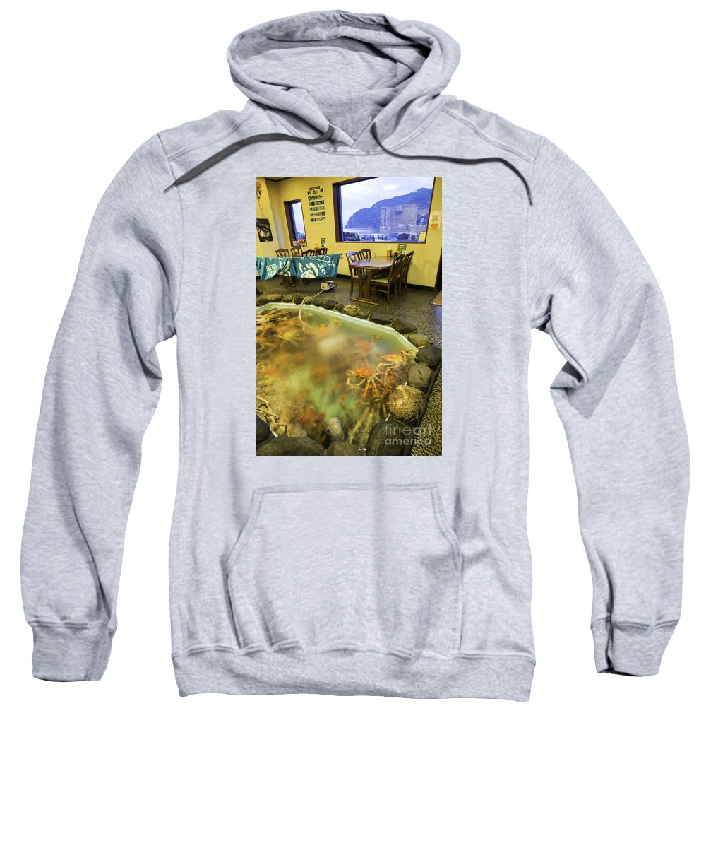 Izu Peninsula Sweatshirt featuring the photograph Crab Shack Japanese Style by Daryl L Hunter