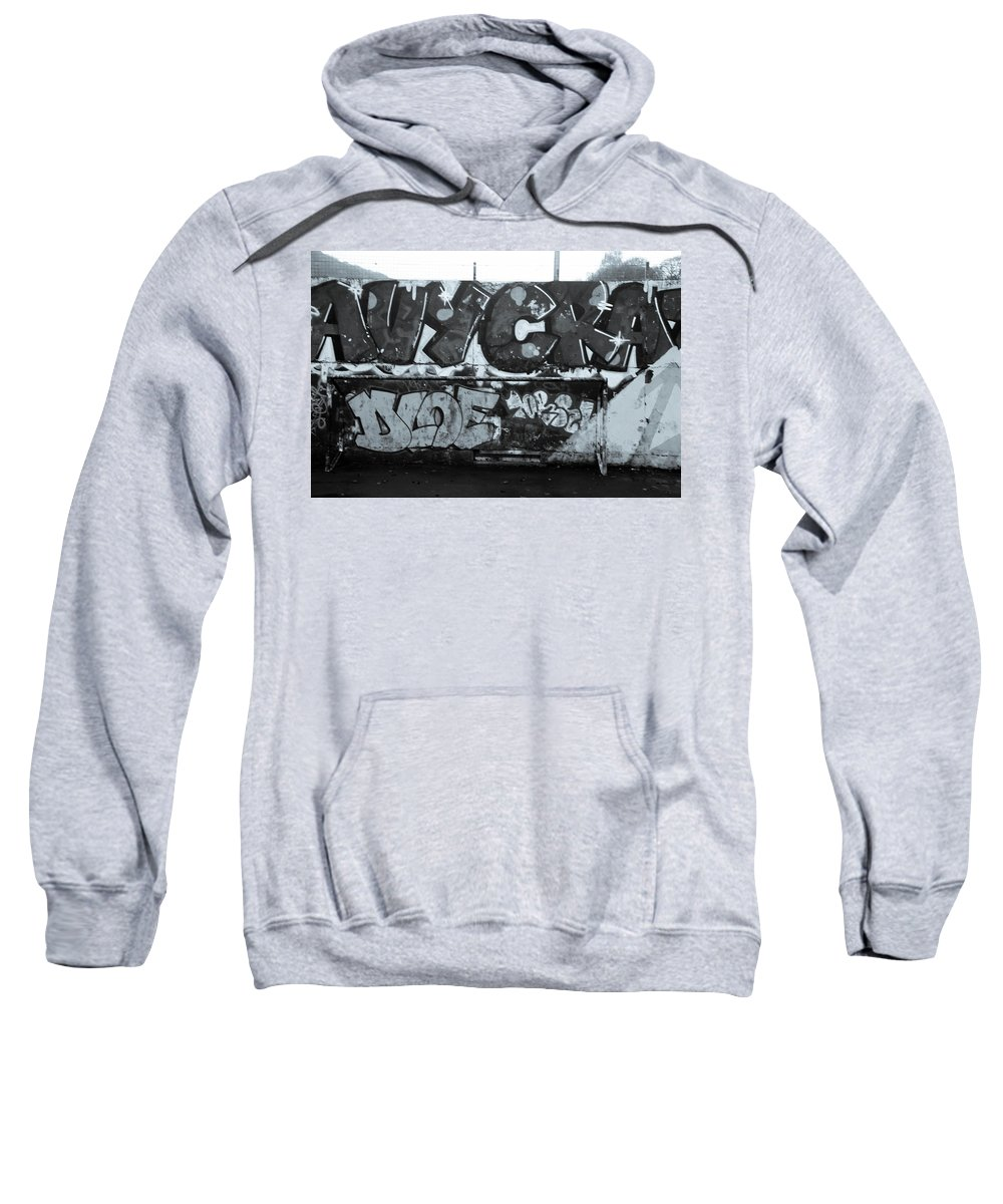 Hebden Sweatshirt featuring the photograph Crackit by Jez C Self
