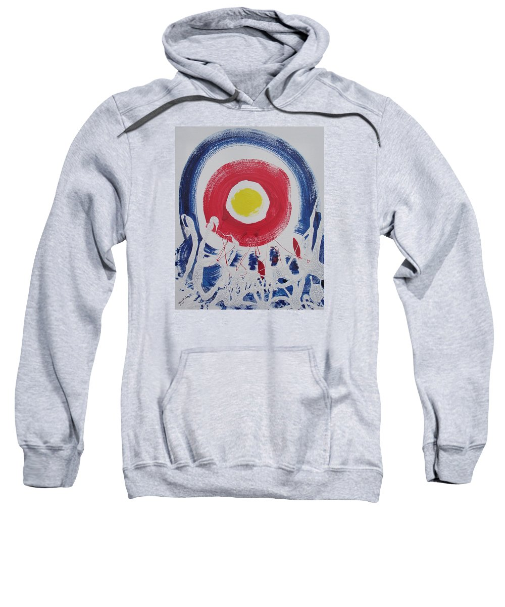 Global Warming Sweatshirt featuring the painting Cracks In The Universe by Arlene Wright-Correll
