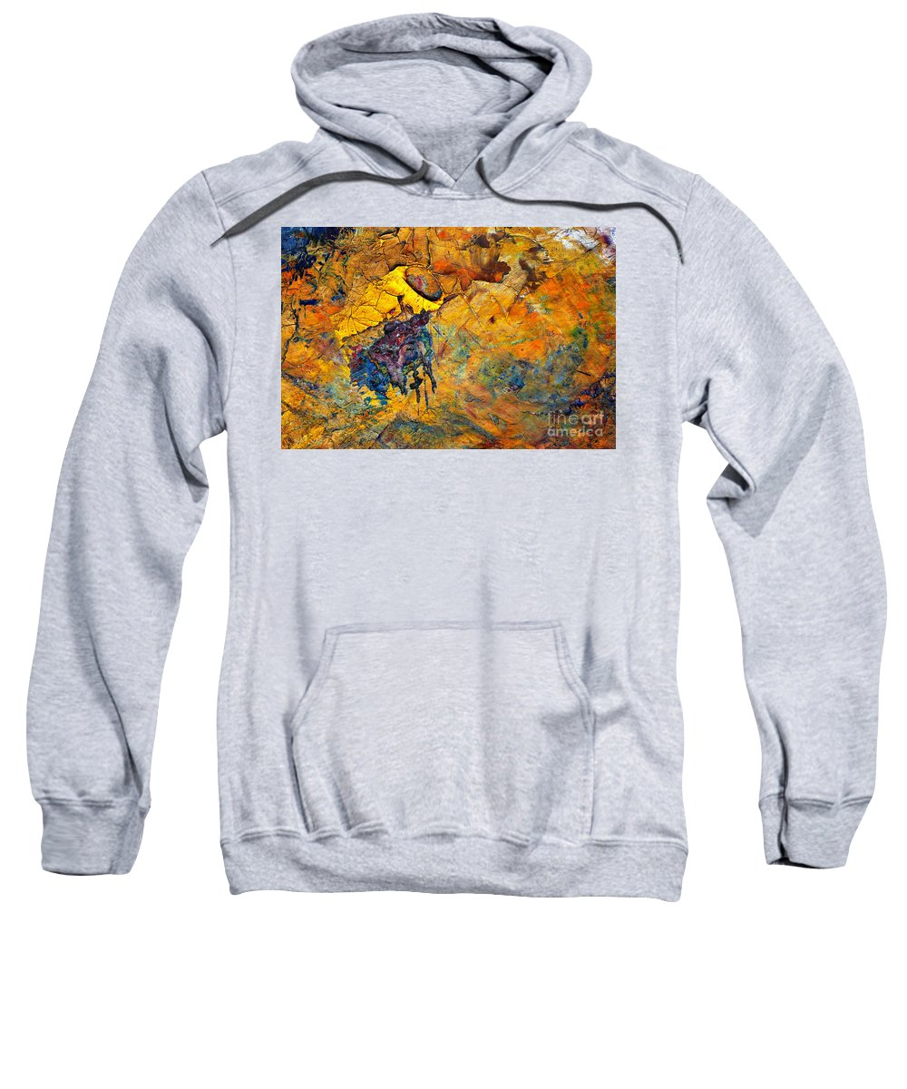 Detail Sweatshirt featuring the painting Craftsmanship by Michal Boubin