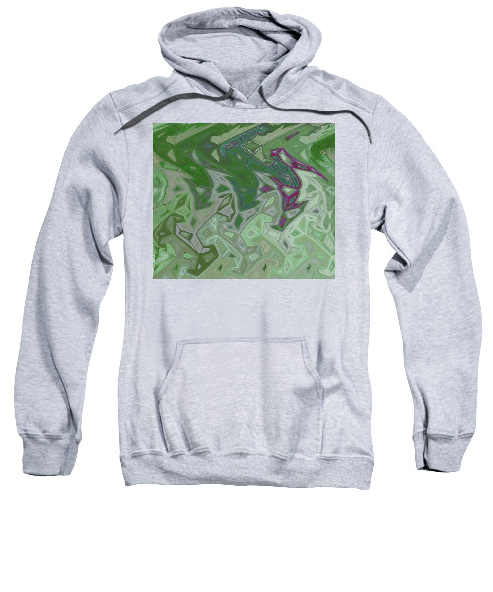 Abstract Sweatshirt featuring the digital art Cranes by Lenore Senior