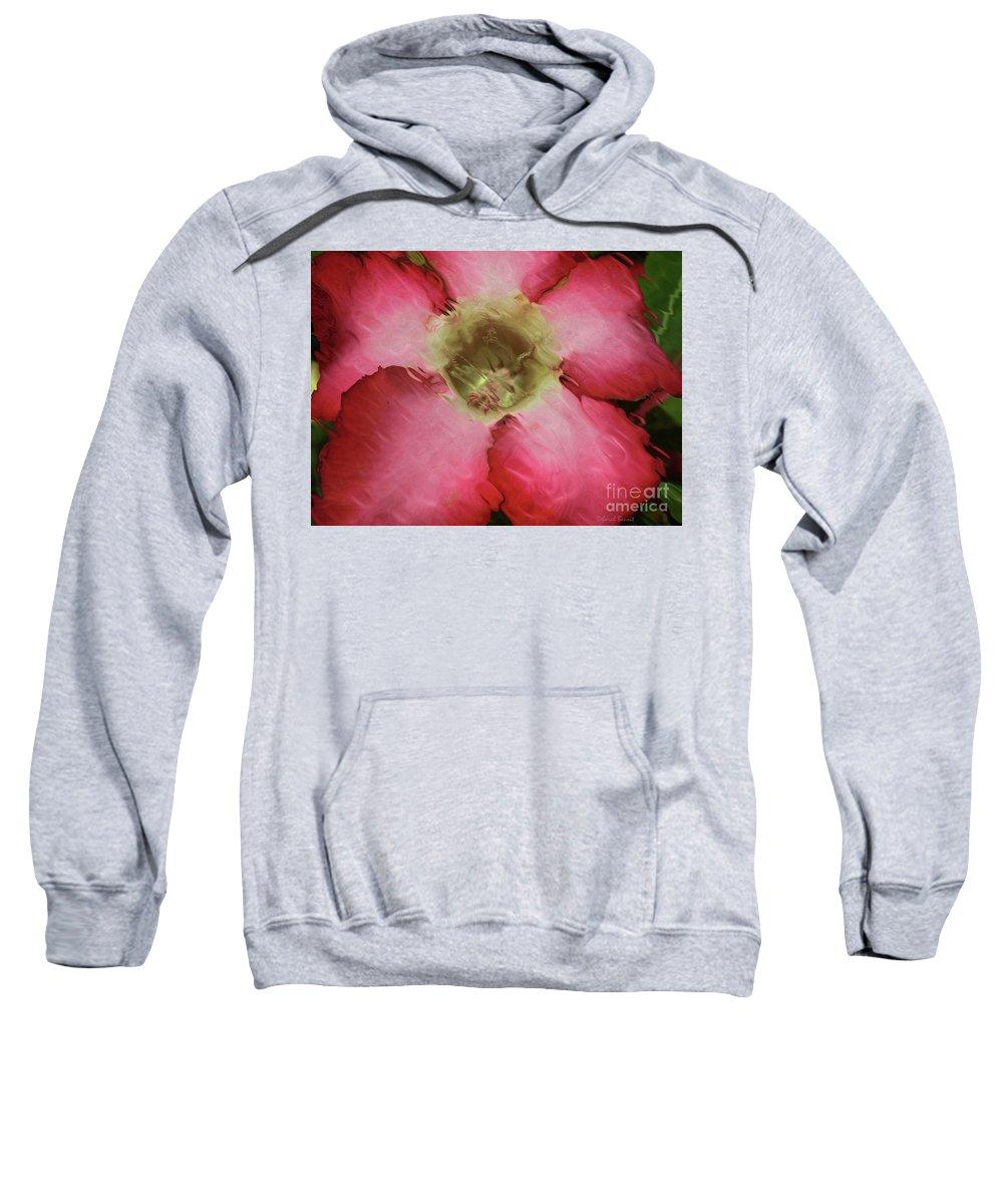 Flower Sweatshirt featuring the photograph Craquelure Pink Flower by Deborah Benoit