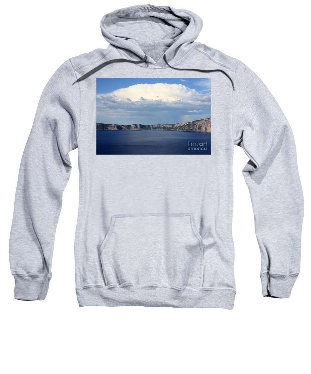 Clouds Sweatshirt featuring the photograph Crater Lake by Carol Groenen