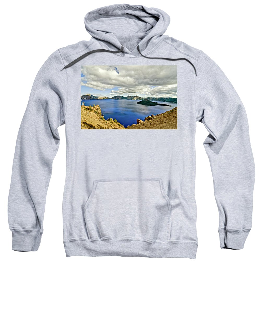 Crater Lake Sweatshirt featuring the photograph Crater Lake I by Albert Seger