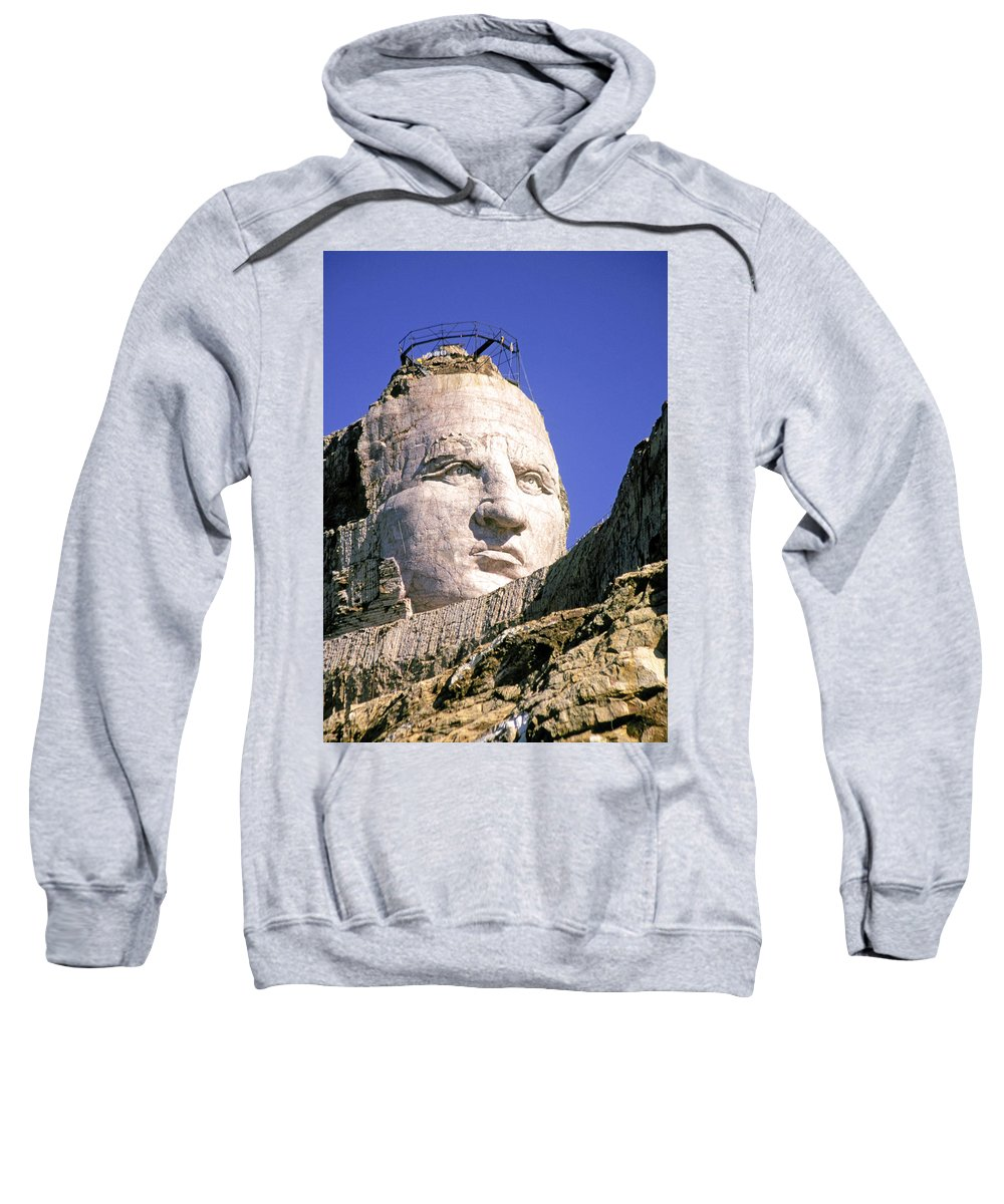 Crazy Sweatshirt featuring the photograph Crazy Horse In Progress II by Buddy Mays