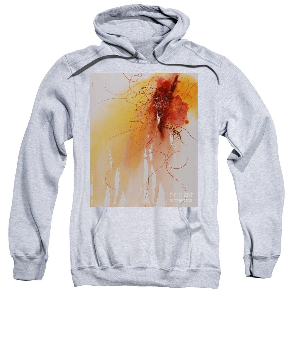 Creativity Sweatshirt featuring the painting Creativity by Nadine Rippelmeyer