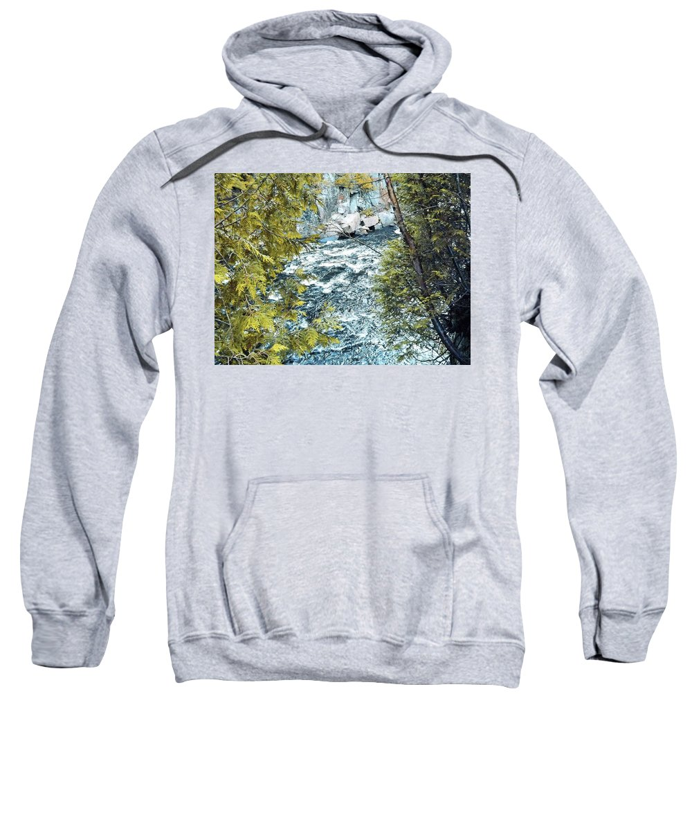 Creek Sweatshirt featuring the photograph Creek by Joseph F Safin