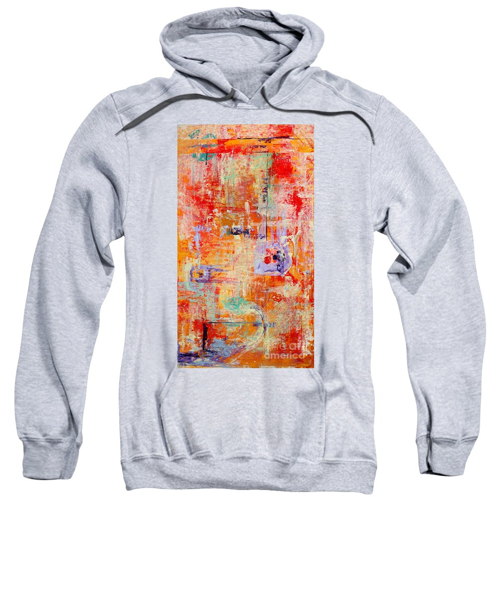 Large Format Painting Sweatshirt featuring the painting Crescendo by Pat Saunders-White
