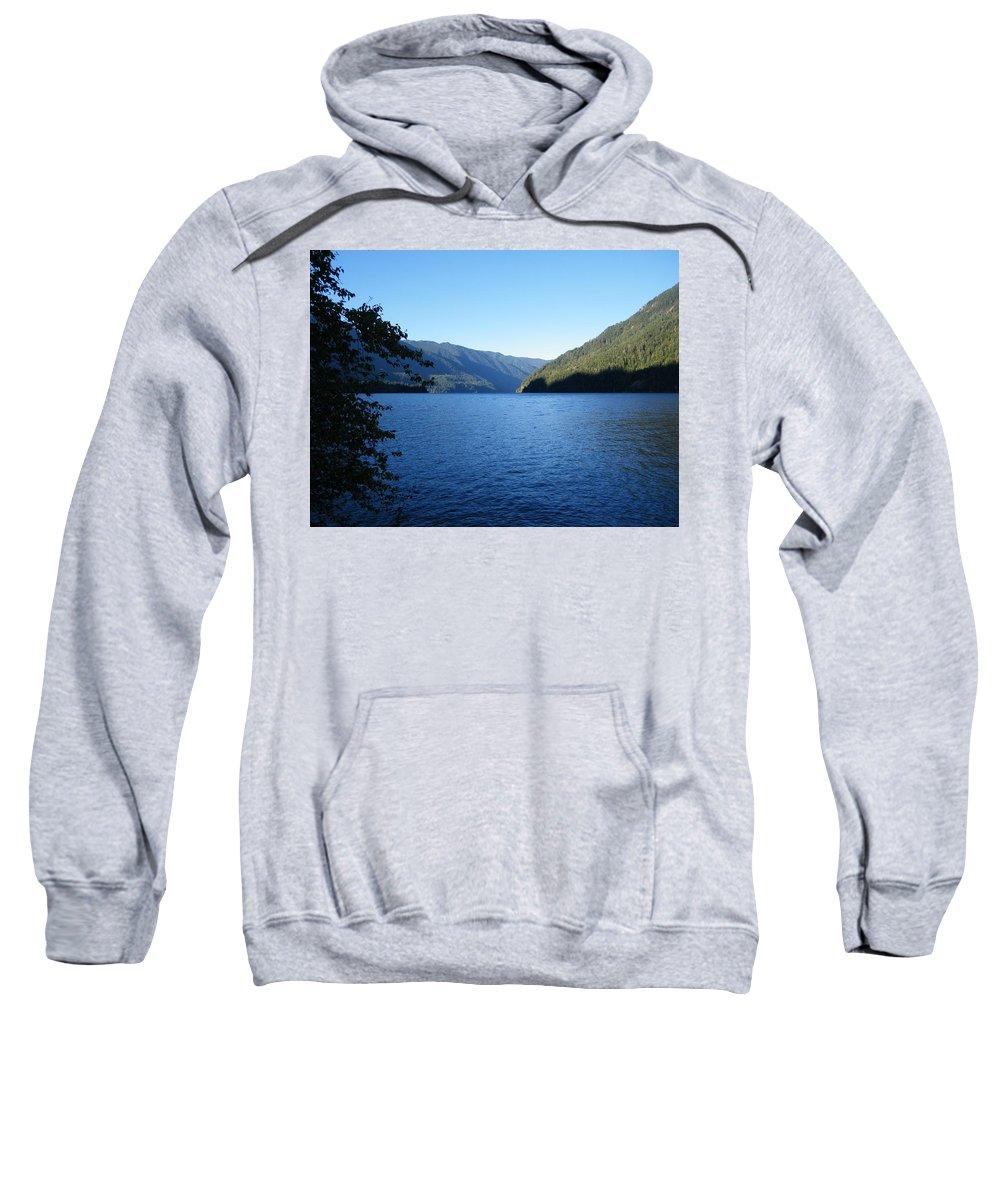 Lake Sweatshirt featuring the photograph Crescent Lake, Washington by Diana Glawson