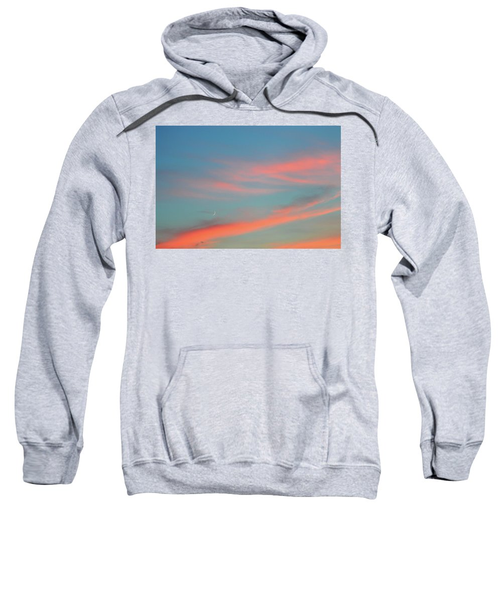 Abstract Sweatshirt featuring the photograph Crescent Moon In The Sky by Lyle Crump