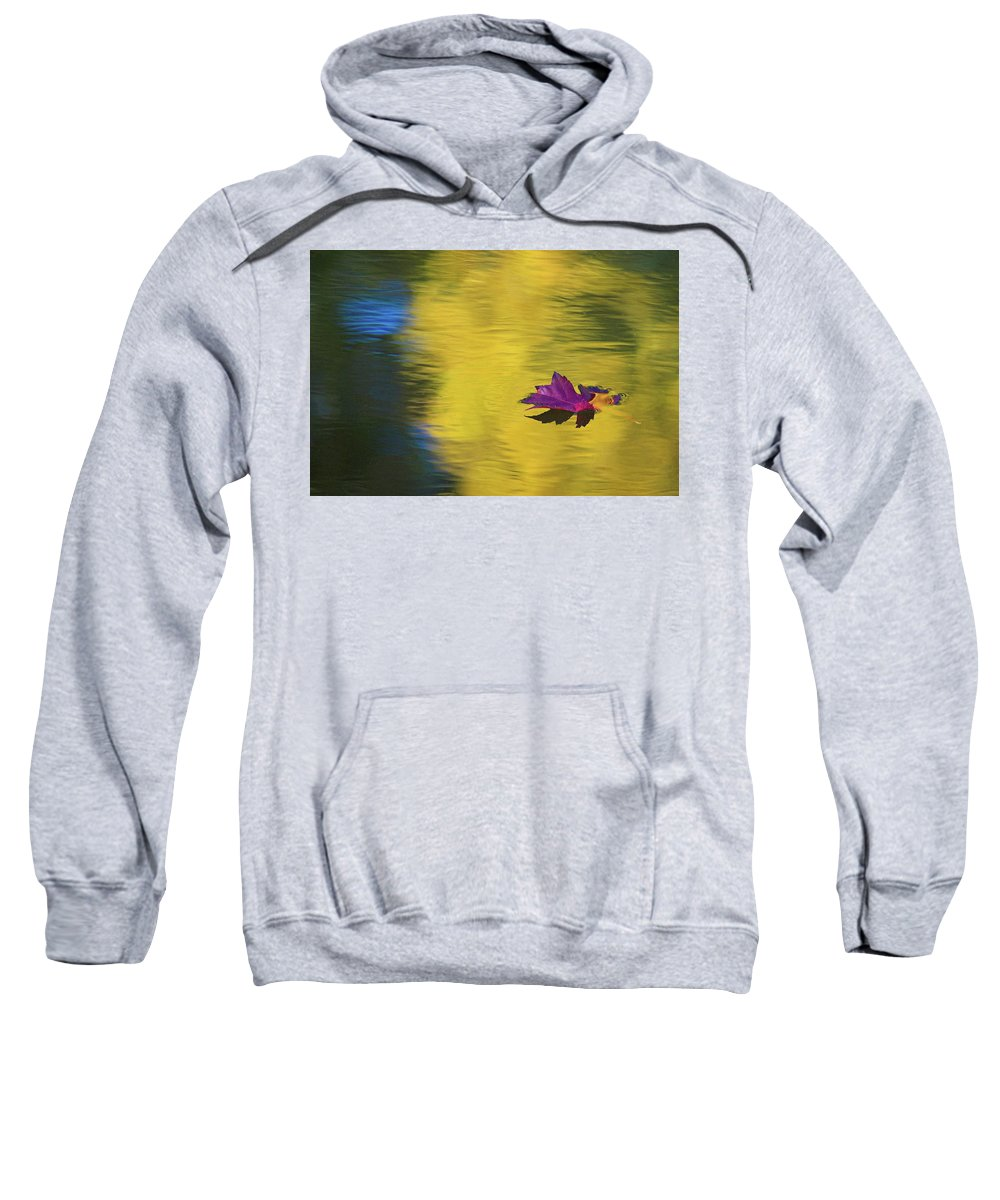 Fall Color Sweatshirt featuring the photograph Crimson And Gold by Steve Stuller