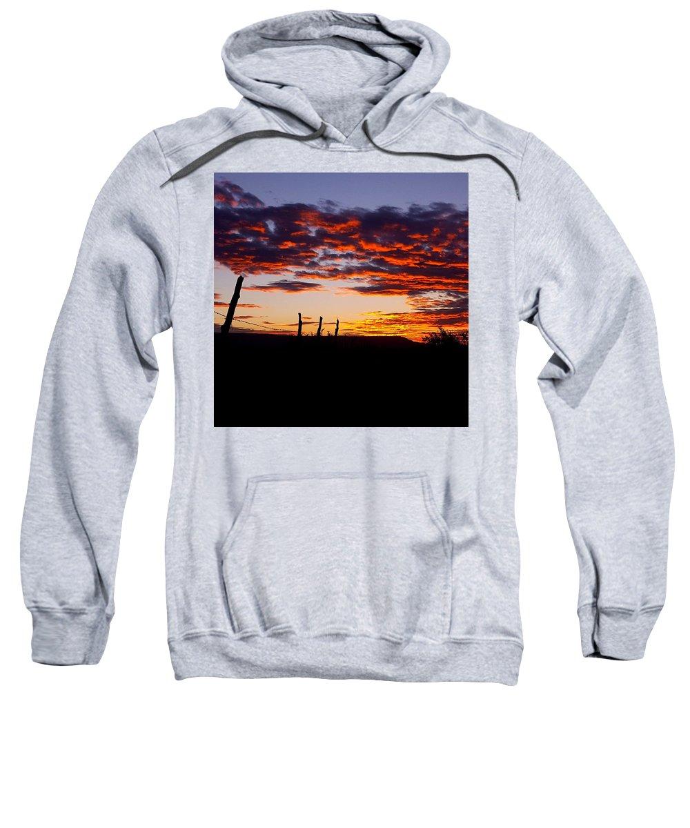 Landscape Sweatshirt featuring the photograph Crimson Sunrise by Rudy Gallegos