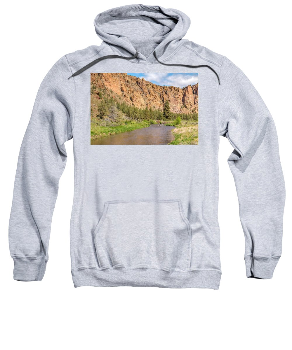 Landscape Sweatshirt featuring the photograph Crooked River II by Kristina Rinell
