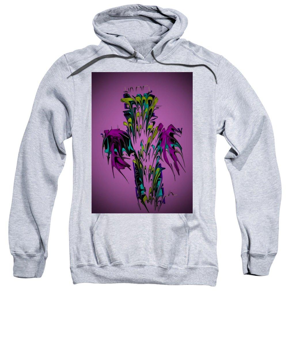 God Sweatshirt featuring the digital art Cross by Lhester Jimenez