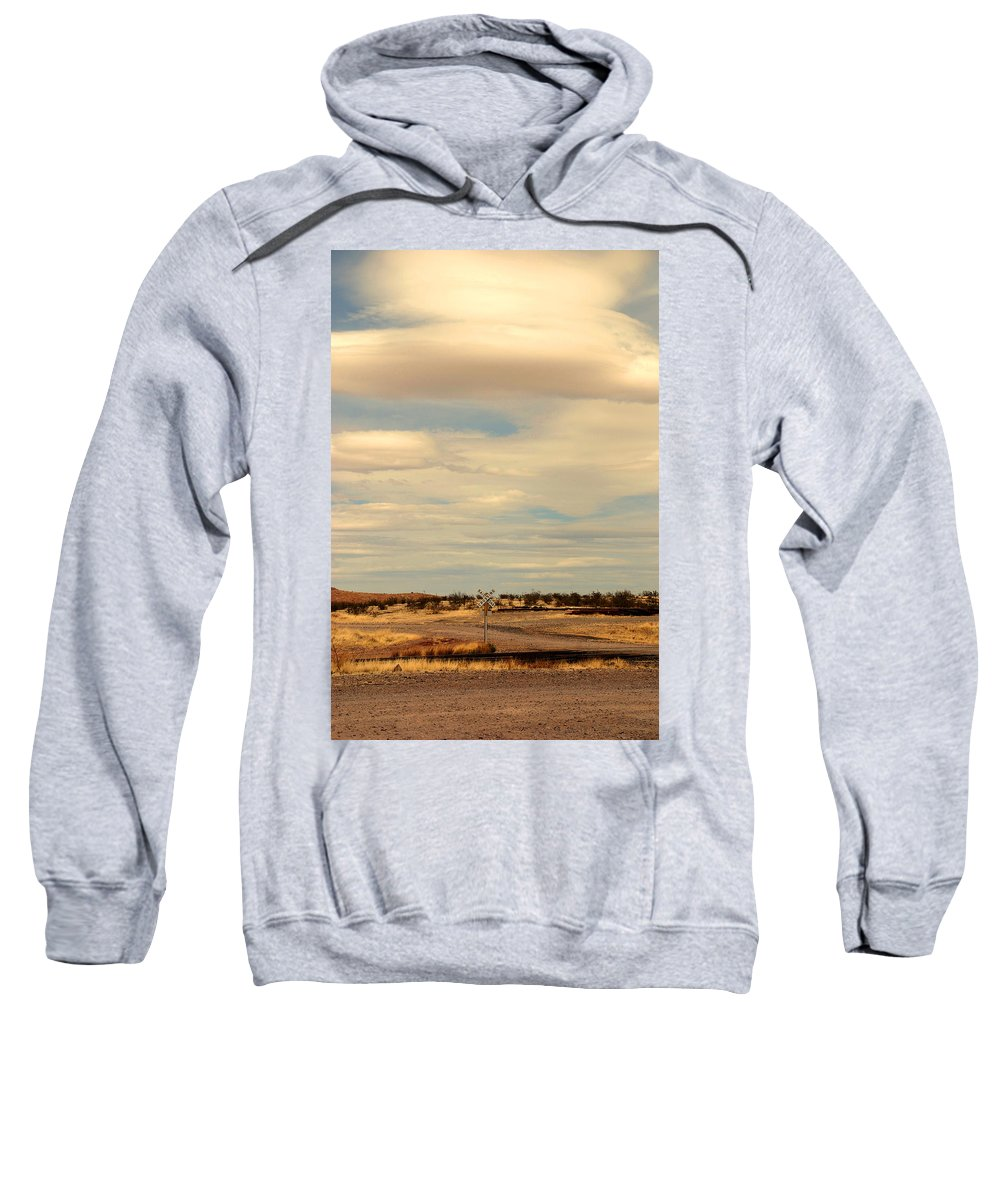 Cross Road Sweatshirt featuring the photograph Cross Road In New Mexico by Susanne Van Hulst
