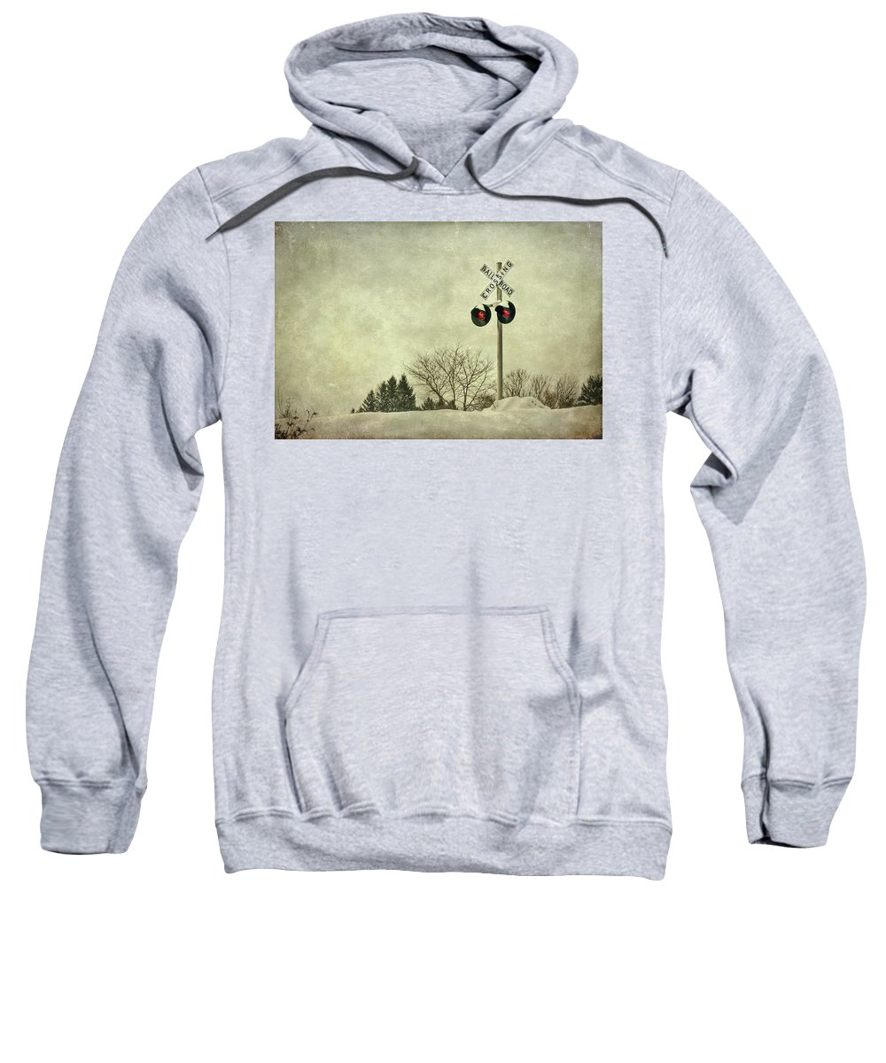 Rail Sweatshirt featuring the photograph Crossing Over by Evelina Kremsdorf