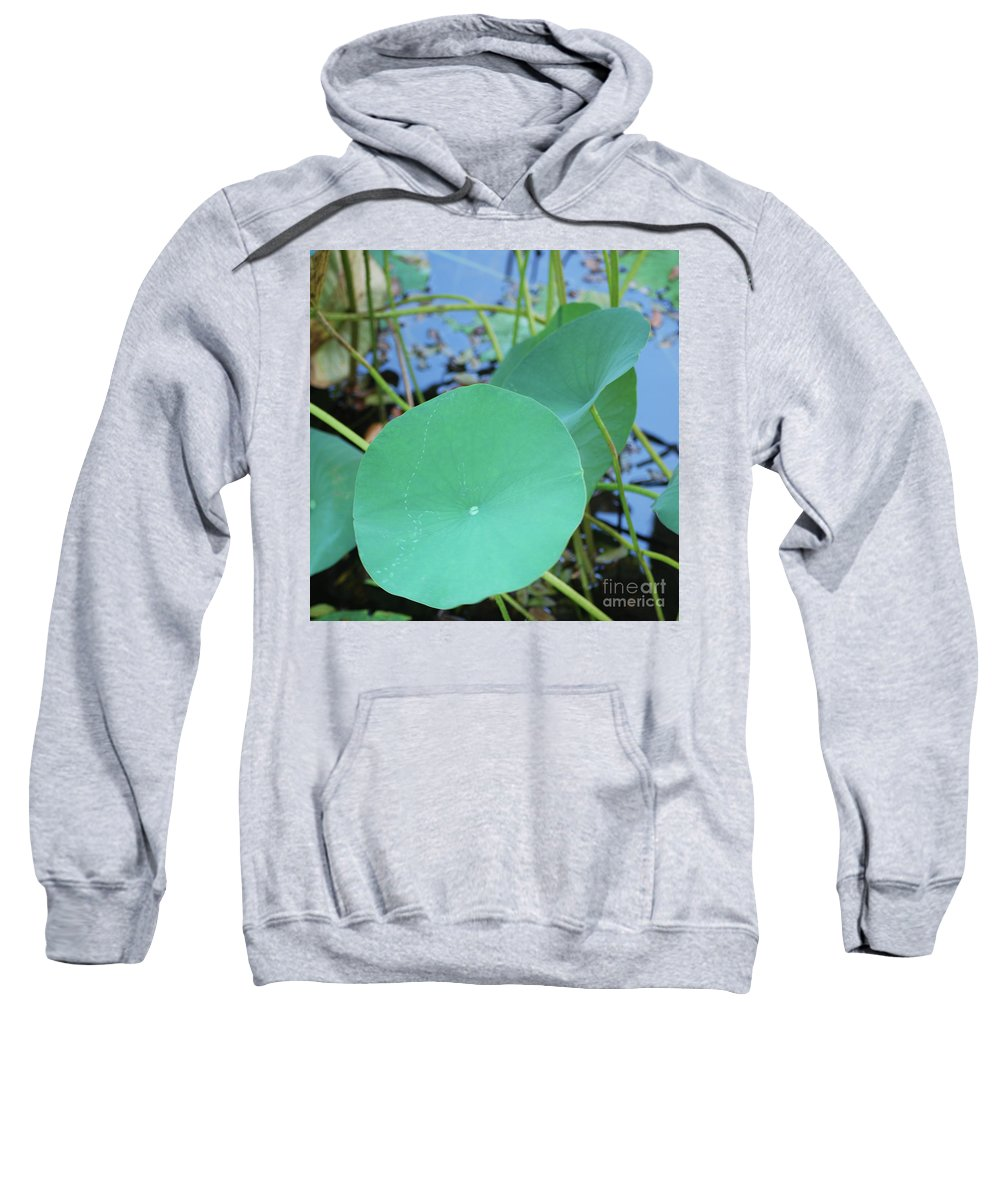 Sweatshirt featuring the photograph Crossing The Lily Pond Outback Nubmer Two Square by Heather Kirk