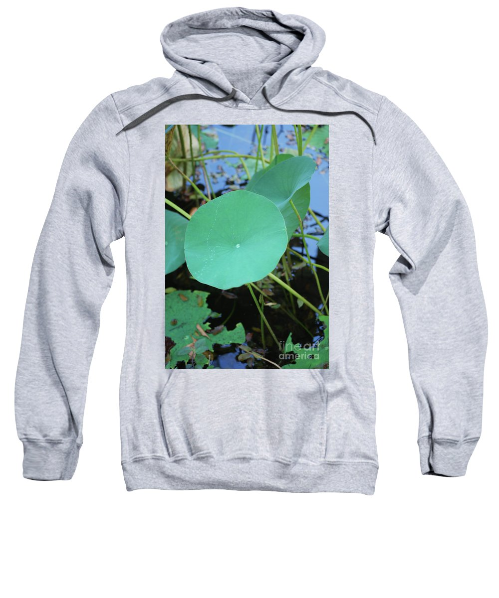 Sweatshirt featuring the photograph Crossing The Lily Pond Outback Number One by Heather Kirk