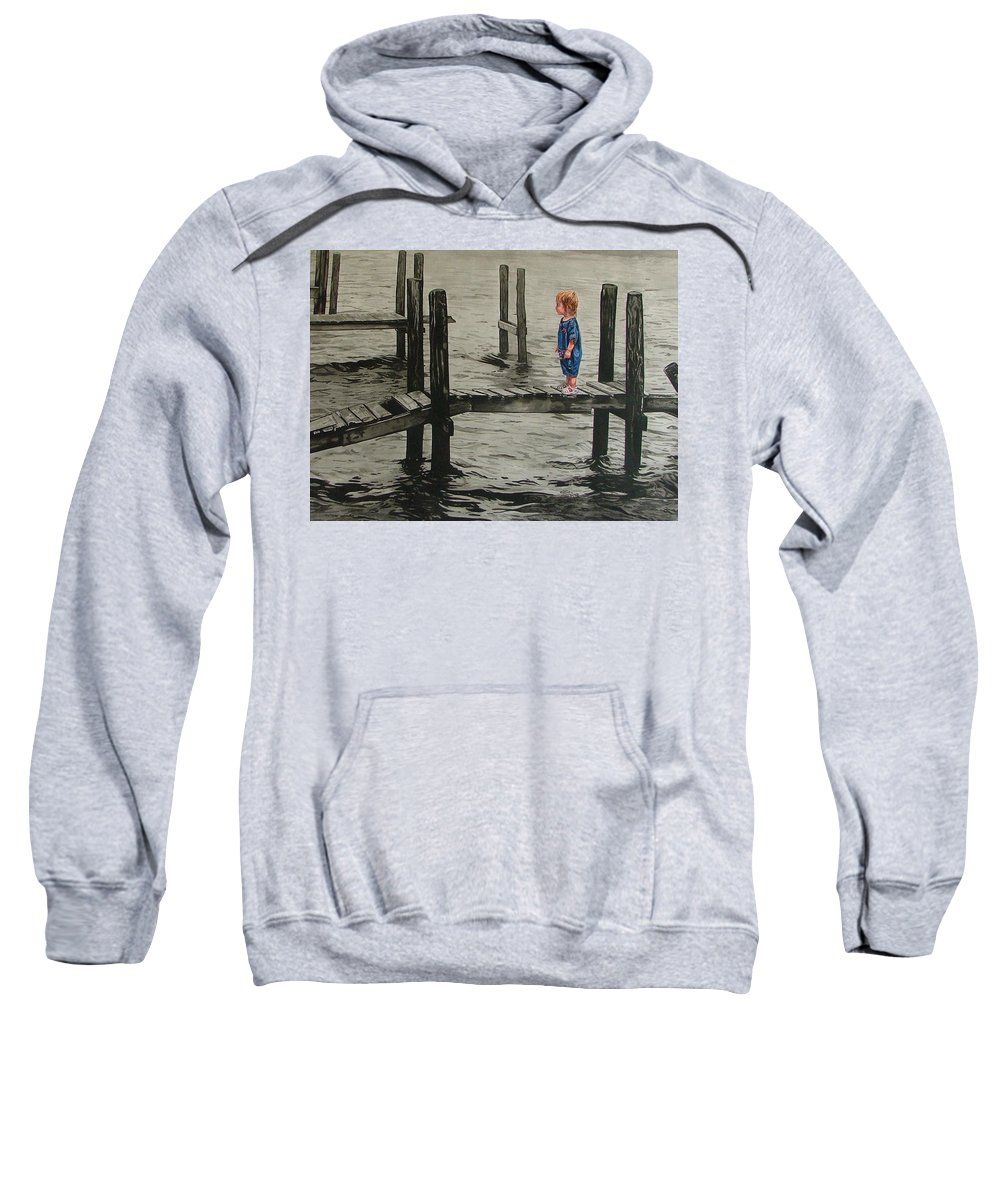 Children Sweatshirt featuring the painting Crossing by Valerie Patterson