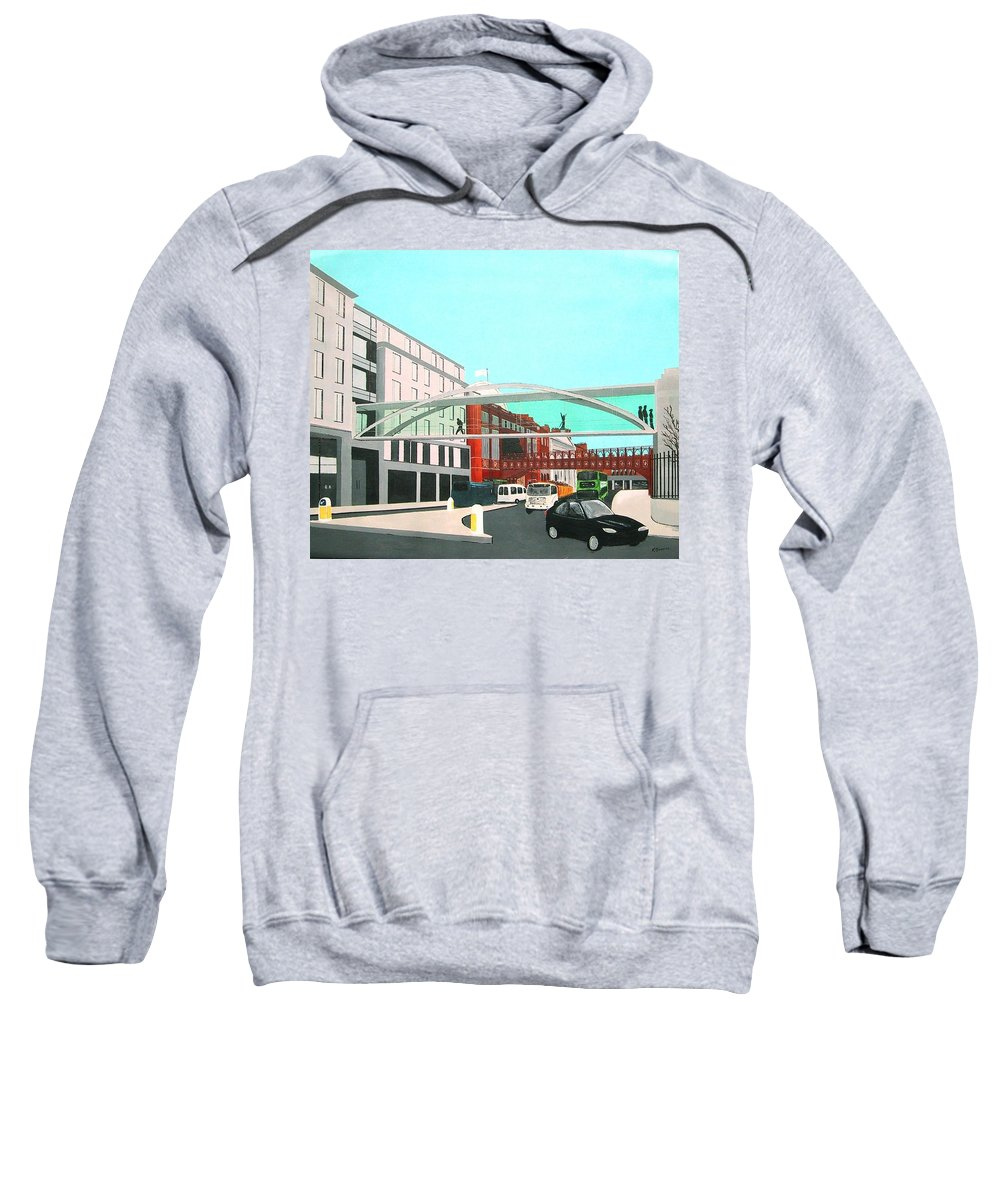 Westland Row Sweatshirt featuring the painting Crossover by Tony Gunning