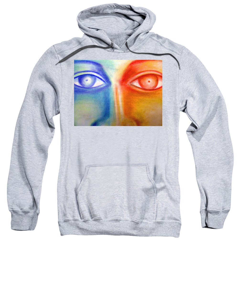Sweatshirt featuring the drawing Crossroads by Jan Gilmore