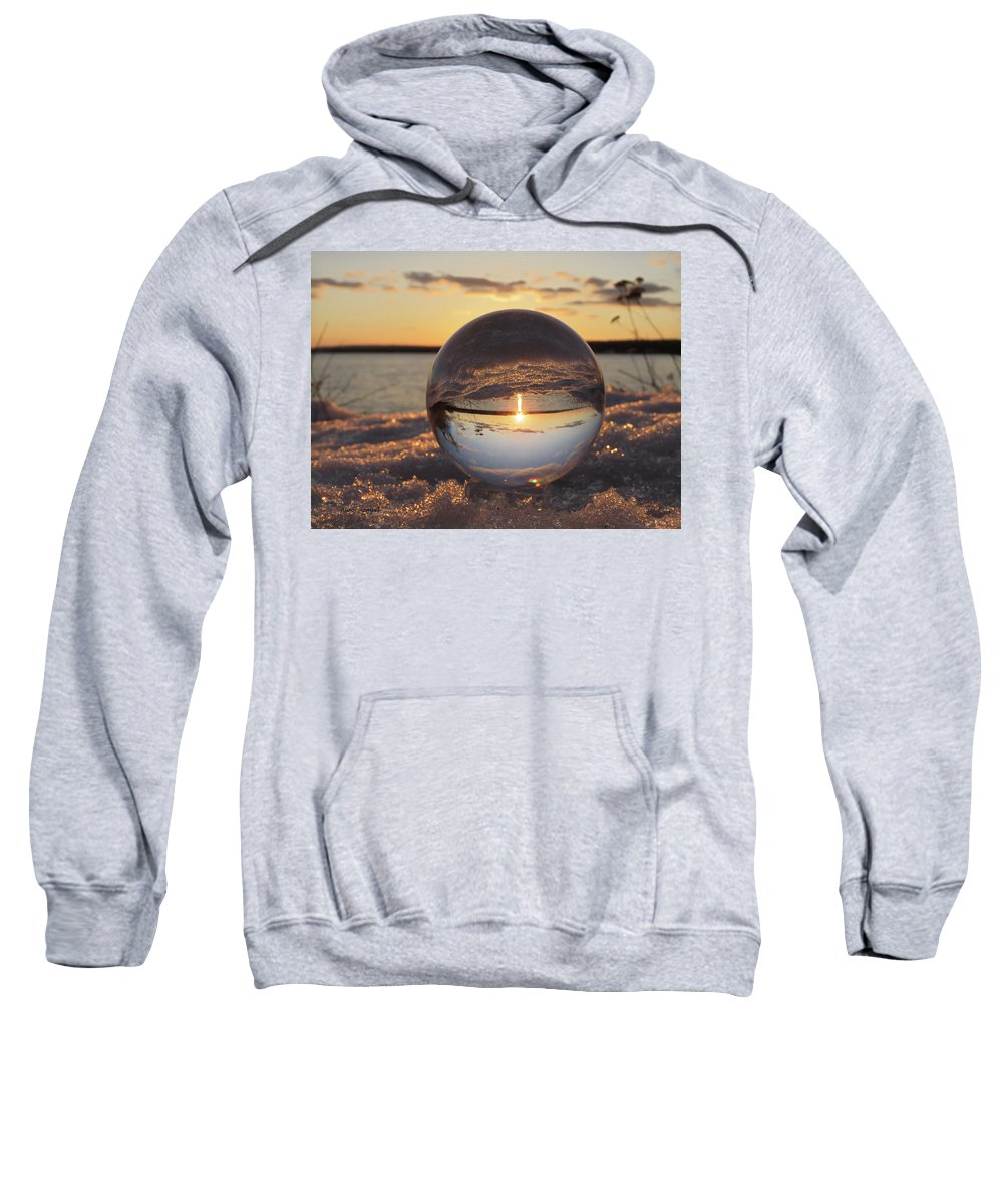 Lake Superior Sweatshirt featuring the photograph Crystal Ball by Alison Gimpel