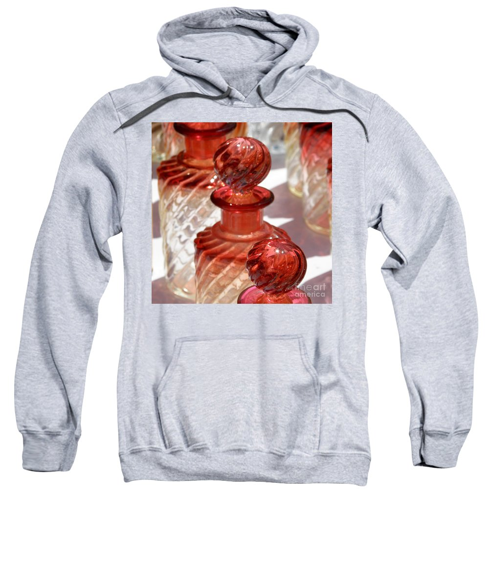French Crystal Sweatshirt featuring the photograph Crystal Bottles by Lainie Wrightson