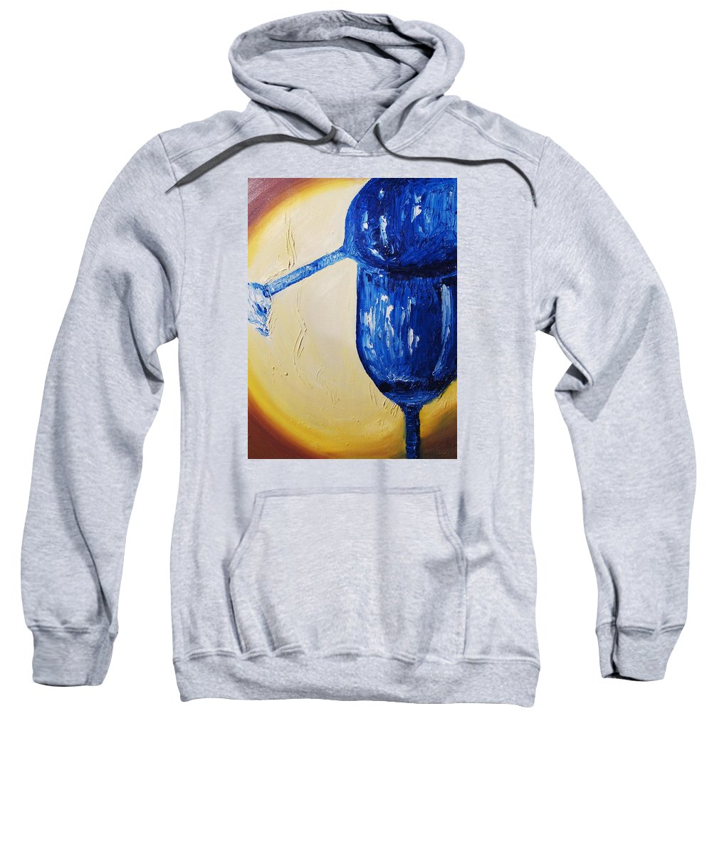 Glass Sweatshirt featuring the painting Crystal Spotlight by Lauren Luna