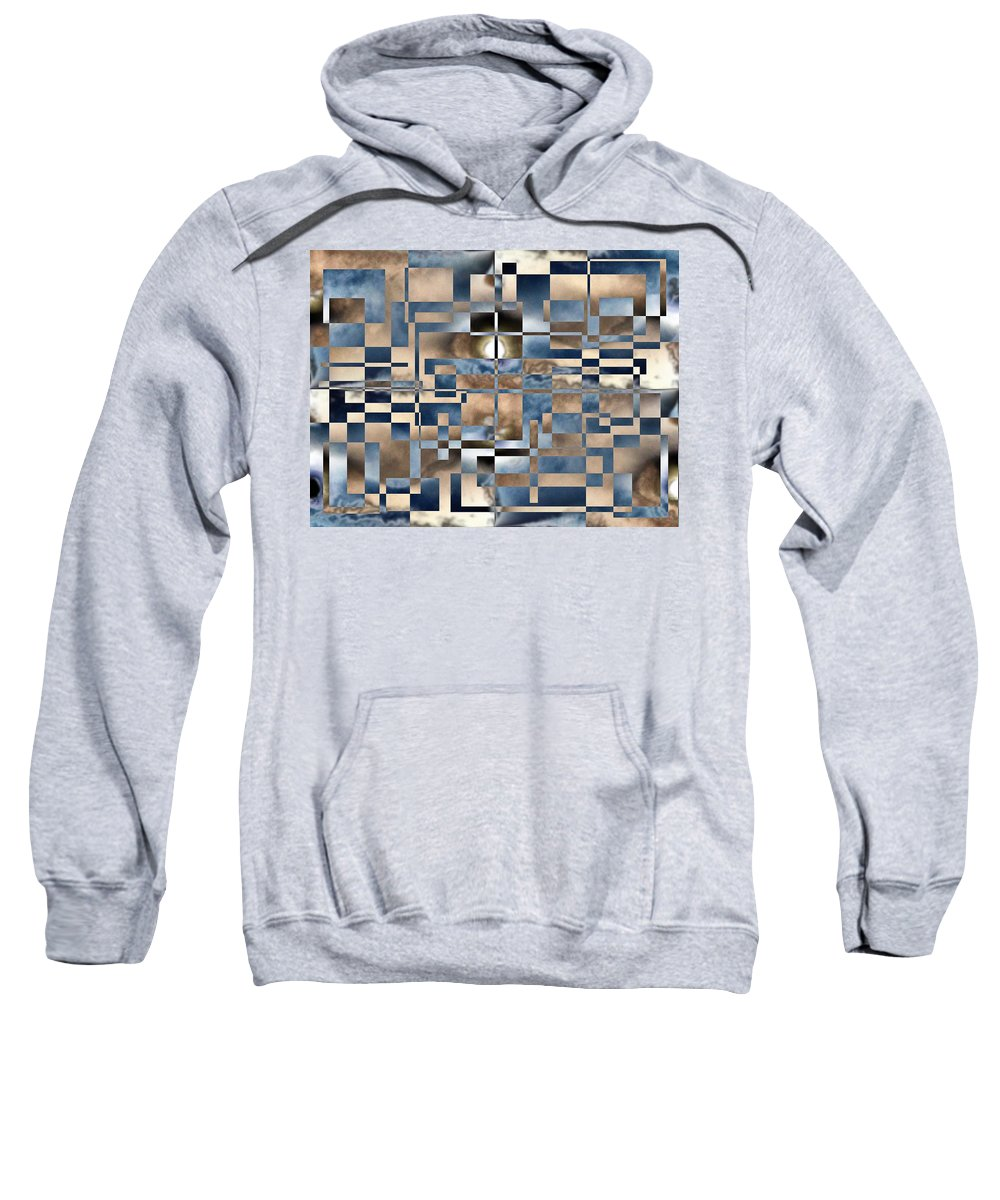 Abstract Sweatshirt featuring the photograph Cubed by Tim Allen