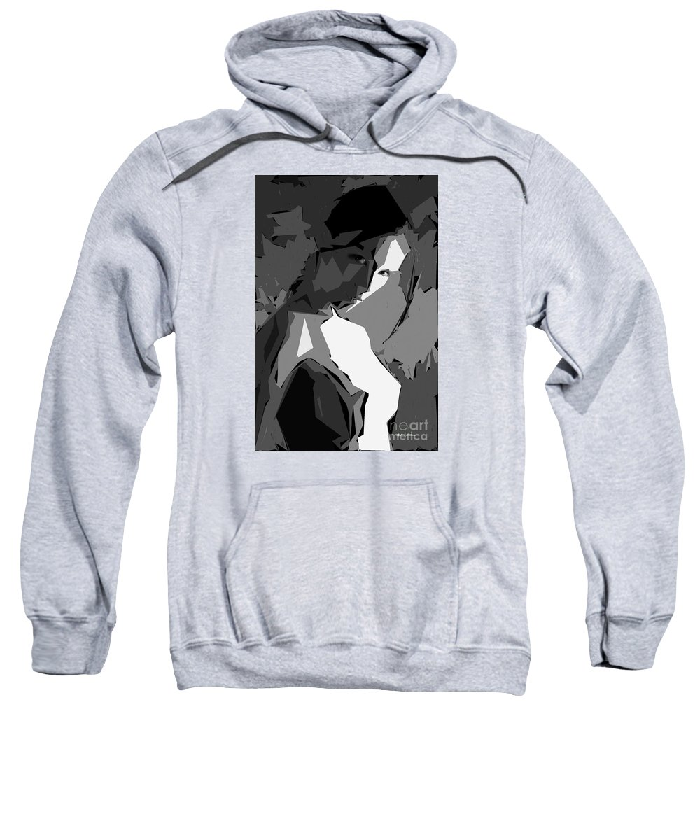 Female Sweatshirt featuring the digital art Cubism Series Xv by Rafael Salazar