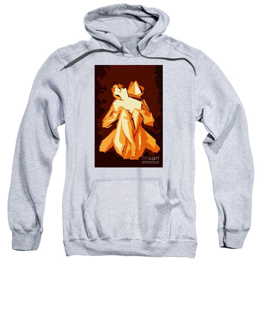 Female Sweatshirt featuring the digital art Cubism Series Xxii by Rafael Salazar