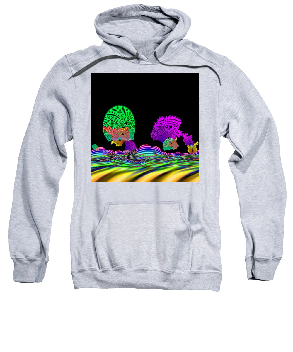 Abstract Sweatshirt featuring the digital art Cubistrain by Andrew Kotlinski