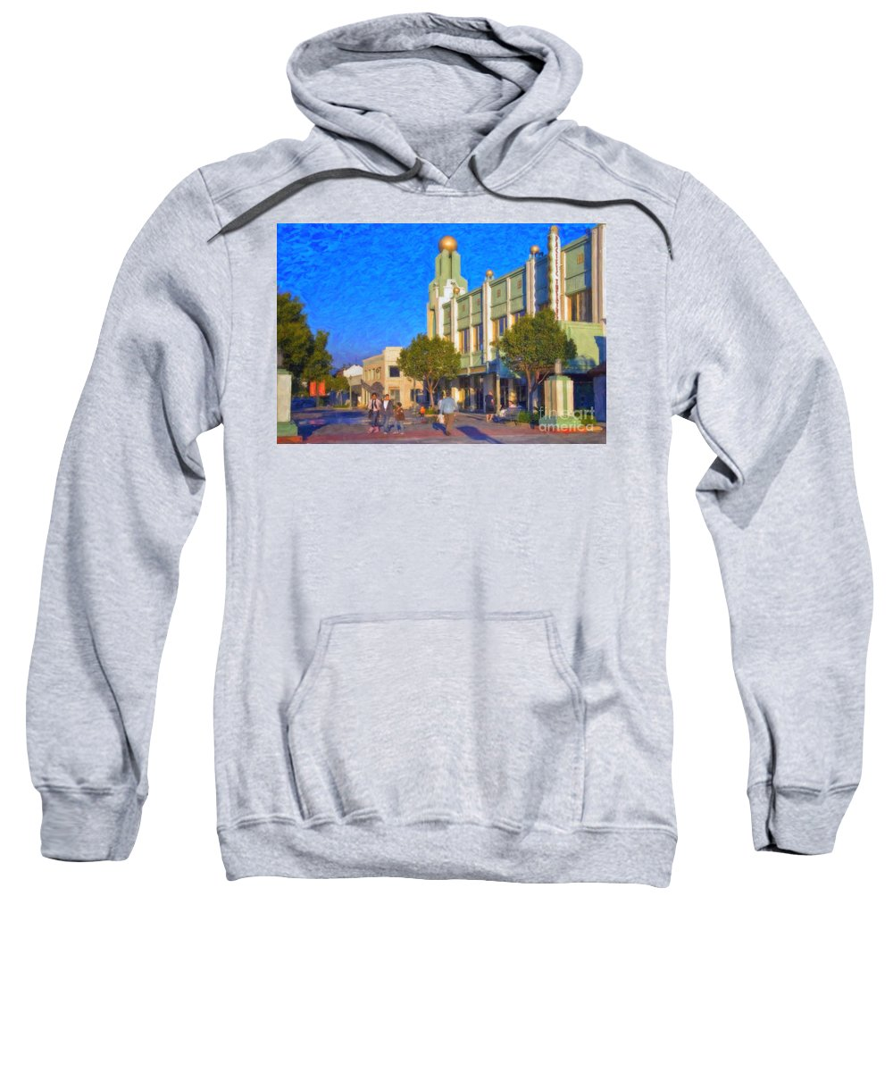 Culver City Plaza Theaters Los Angeles California Sweatshirt featuring the photograph Culver City Plaza Theaters  by David Zanzinger