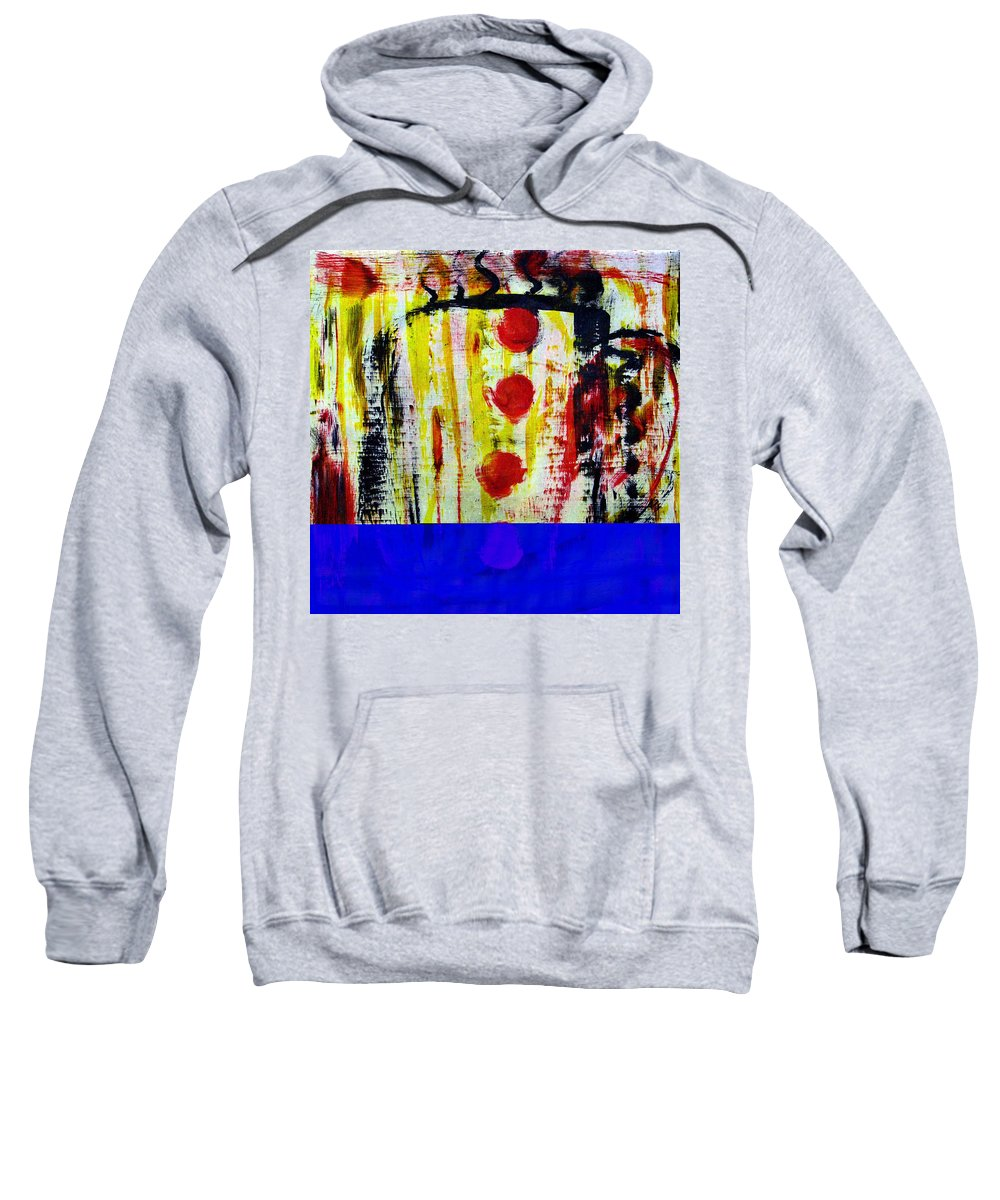 Coffee Sweatshirt featuring the painting Cup Of Java by Wayne Potrafka
