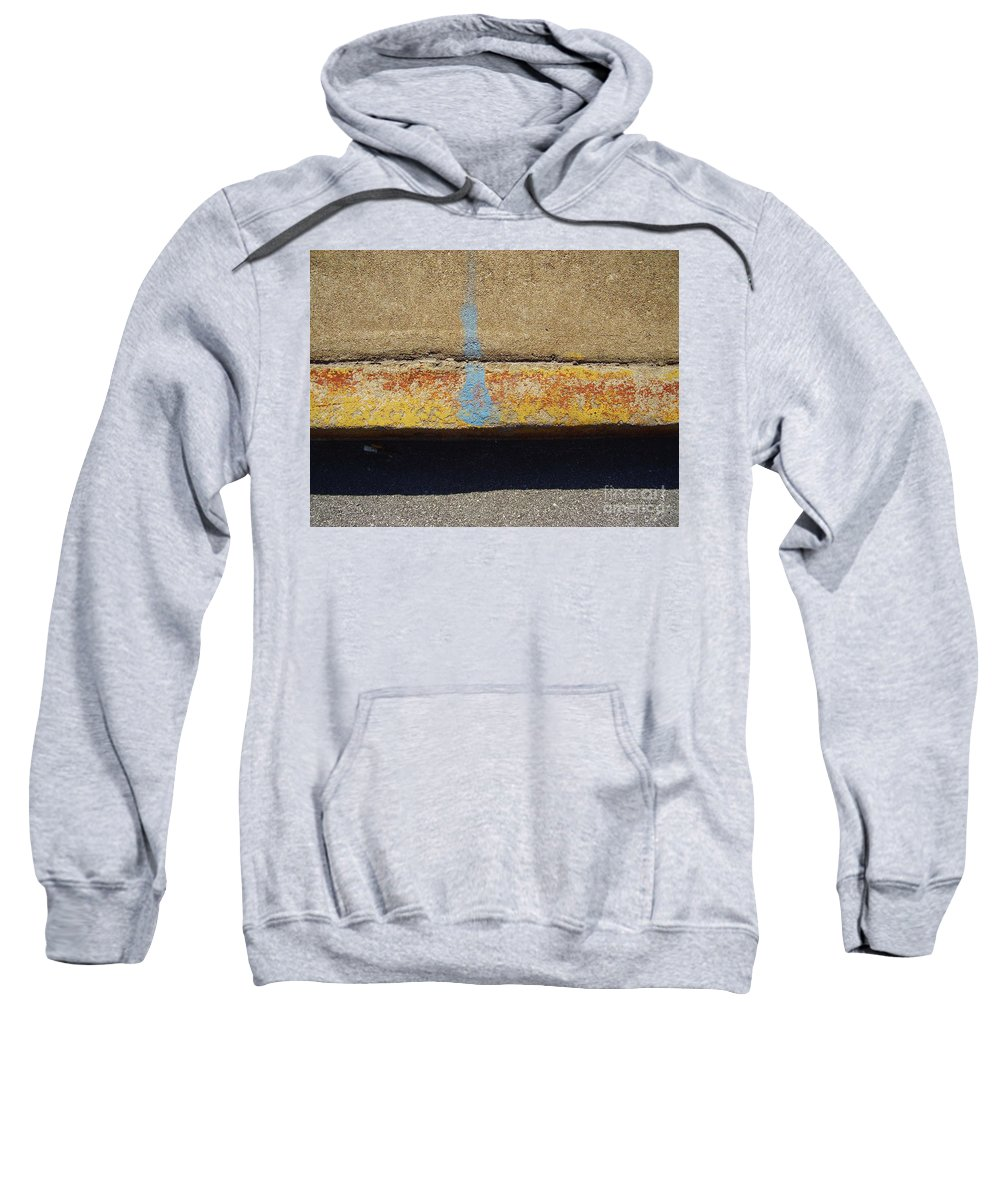 Abstract Sweatshirt featuring the photograph Curb by Flavia Westerwelle
