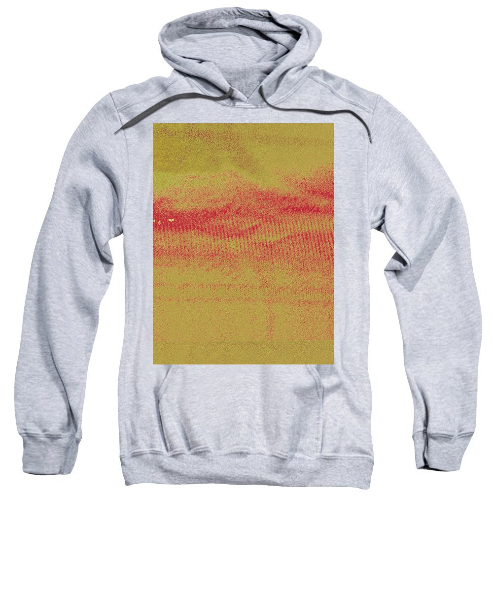 Abstract Sweatshirt featuring the photograph Curtain Abstract As Landscape 2 by Lenore Senior