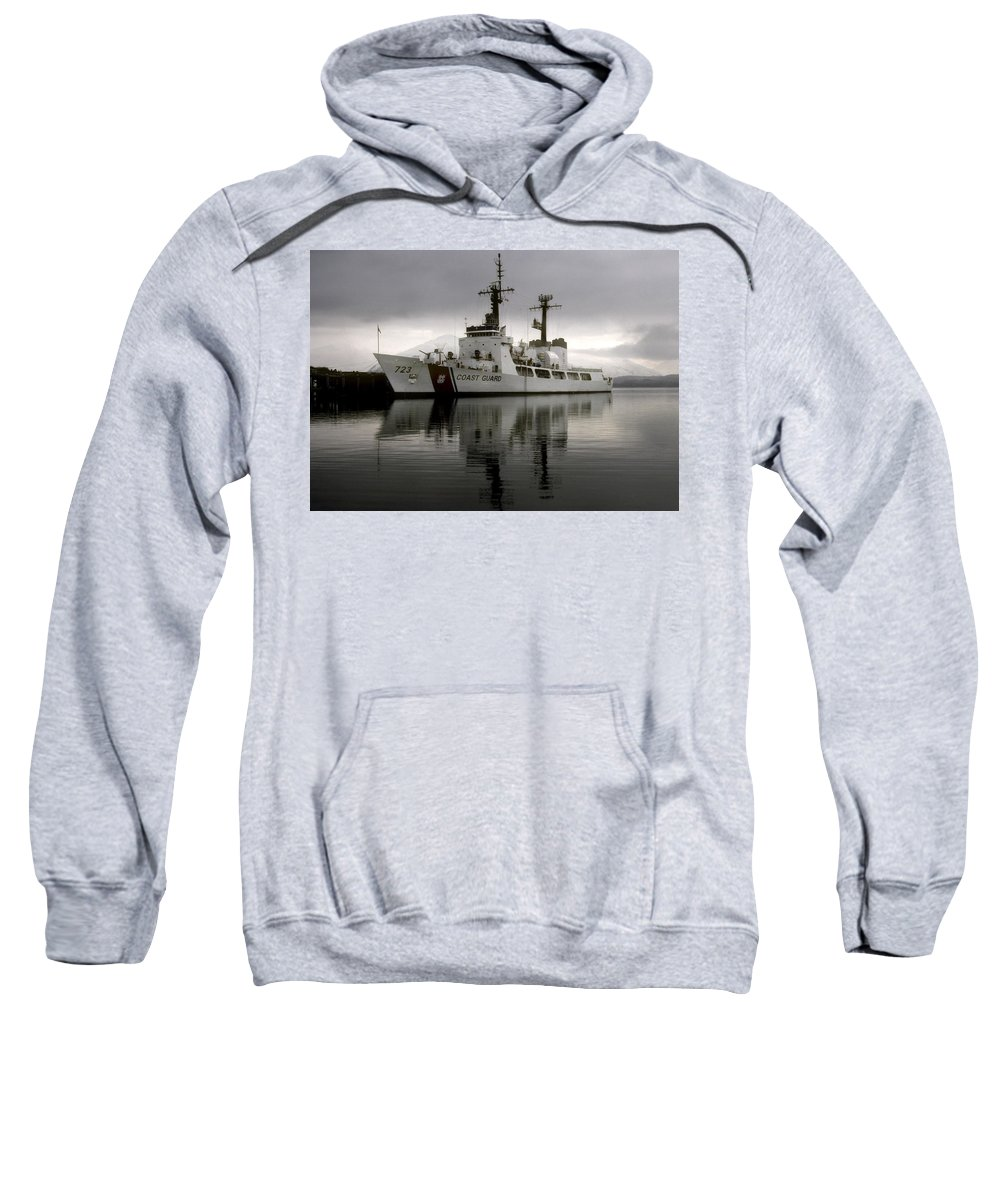 Coast Guard Sweatshirt featuring the photograph Cutter In Alaska by Steven Sparks
