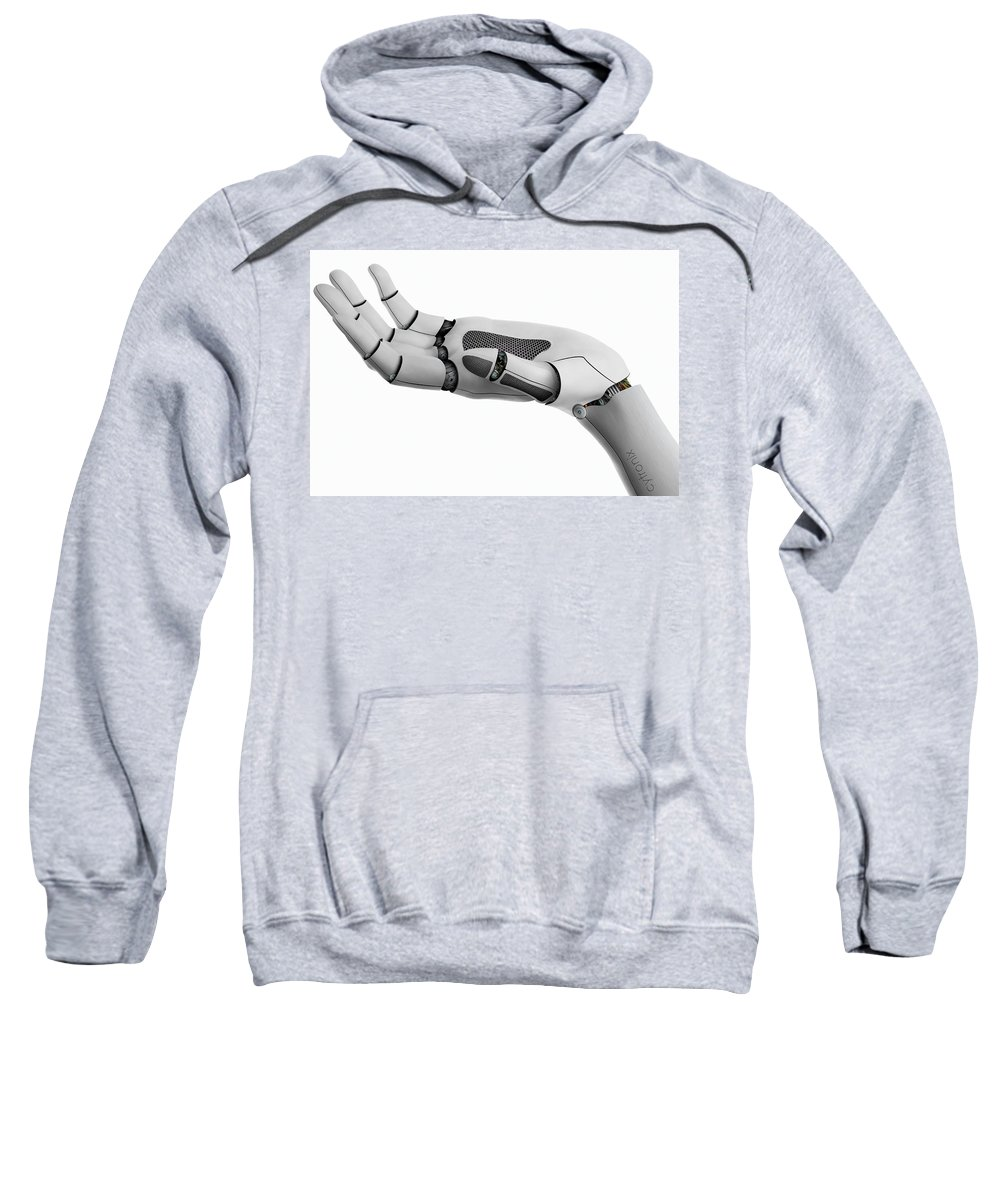 Science Fiction Art Sweatshirt featuring the photograph Cyber Hand by Ponte Ryuurui