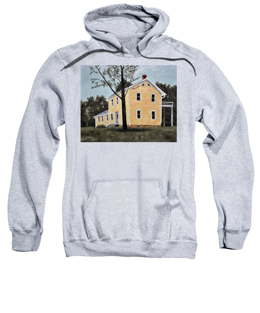 Building Sweatshirt featuring the painting Dads House by Stan Hamilton