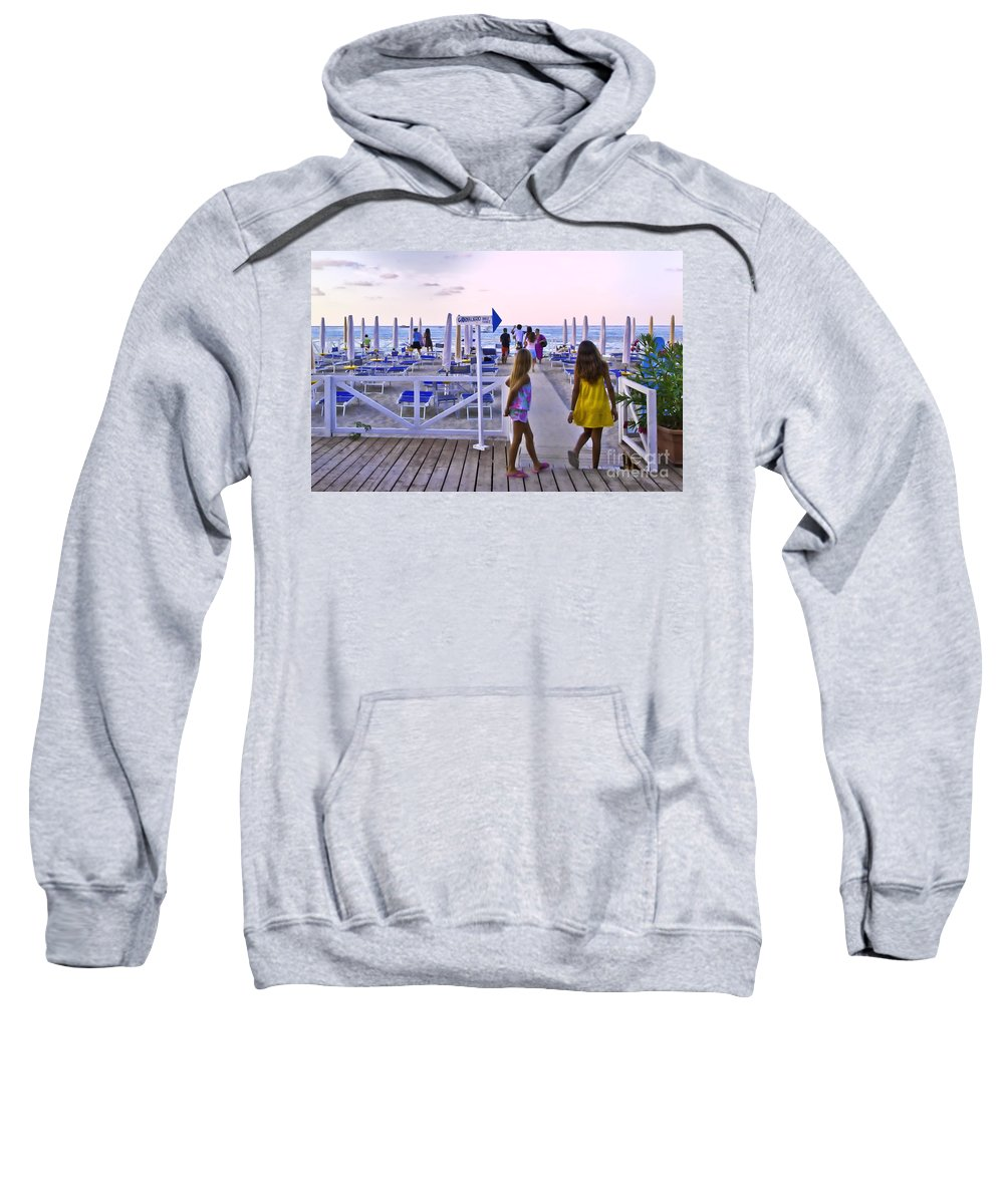 Mondello Beach Sweatshirt featuring the photograph Daily Ticket Aka Giornaliero by Madeline Ellis