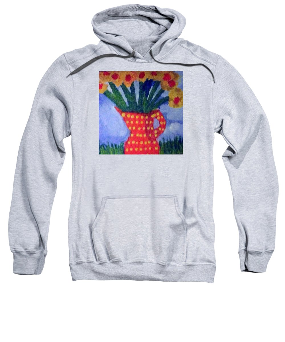 flowers Sweatshirt featuring the painting Daisies Flowers  by Jennifer L Johnson