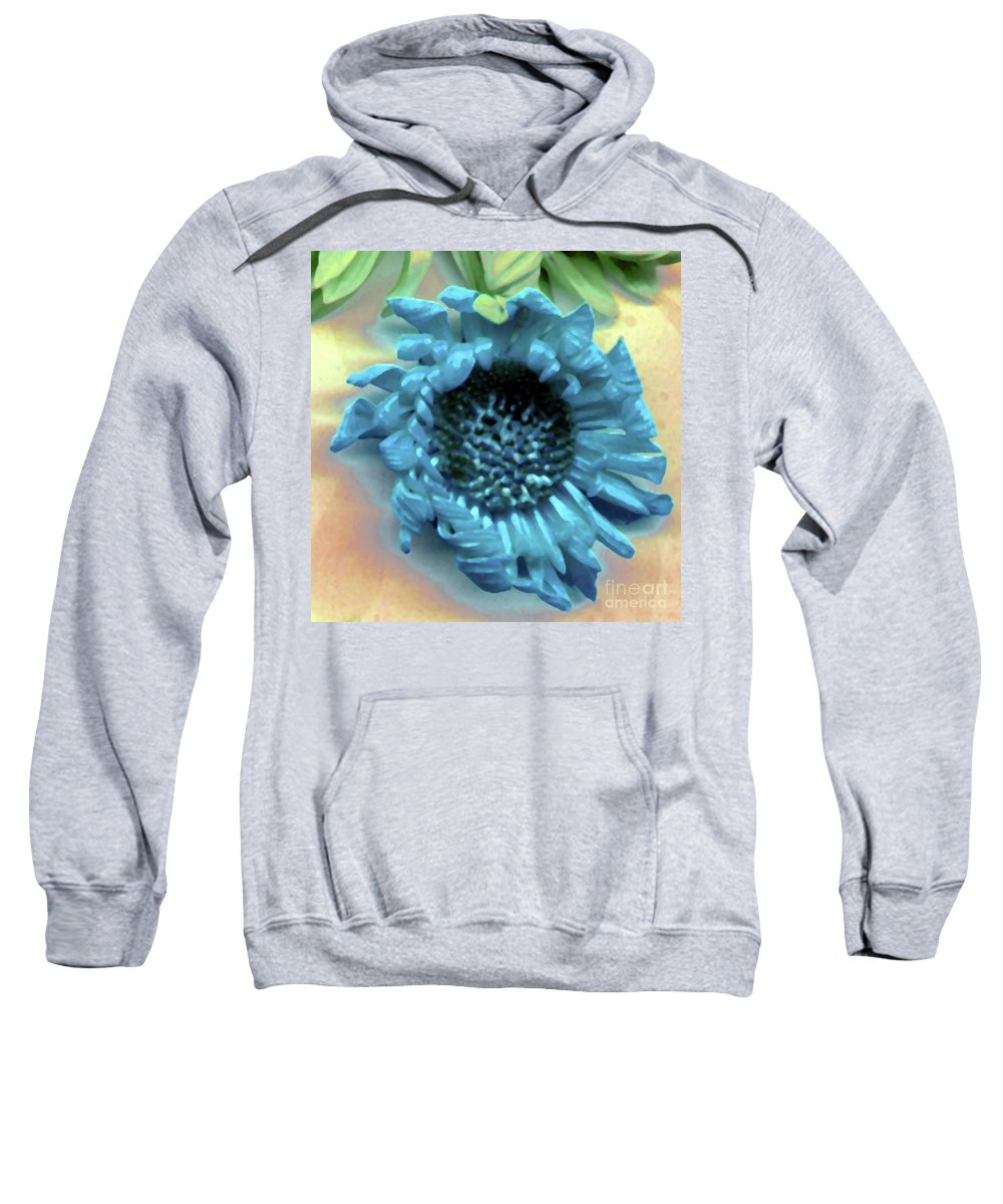 Sweatshirt featuring the photograph Daisy Blue by Heather Kirk
