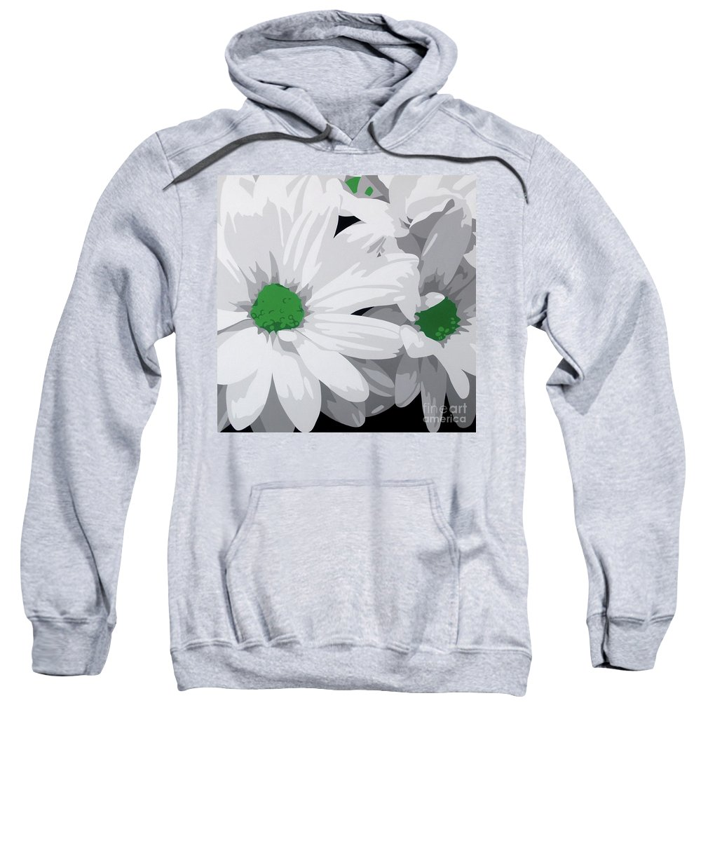 Acrylic On Canvas Sweatshirt featuring the painting Daisy Chain by Susan Porter