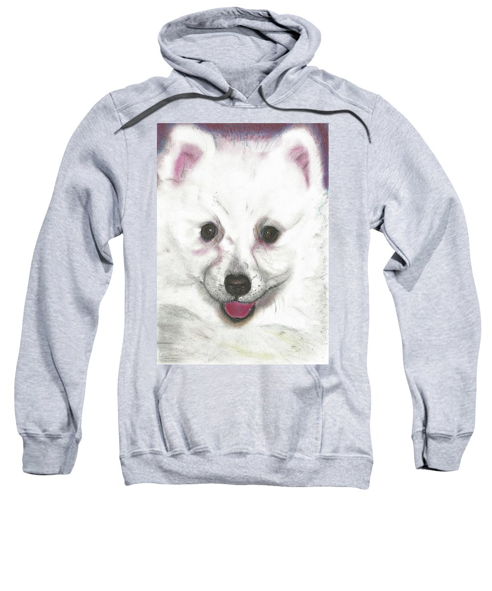 Dog Sweatshirt featuring the pastel Daisy by Louise Grant