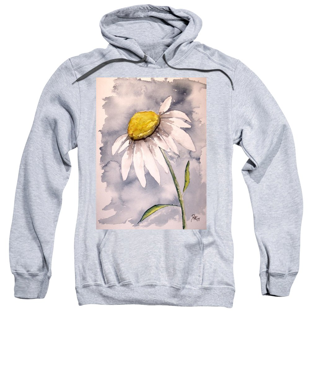Daisy Sweatshirt featuring the painting Daisy Modern Poster Print Fine Art by Derek Mccrea