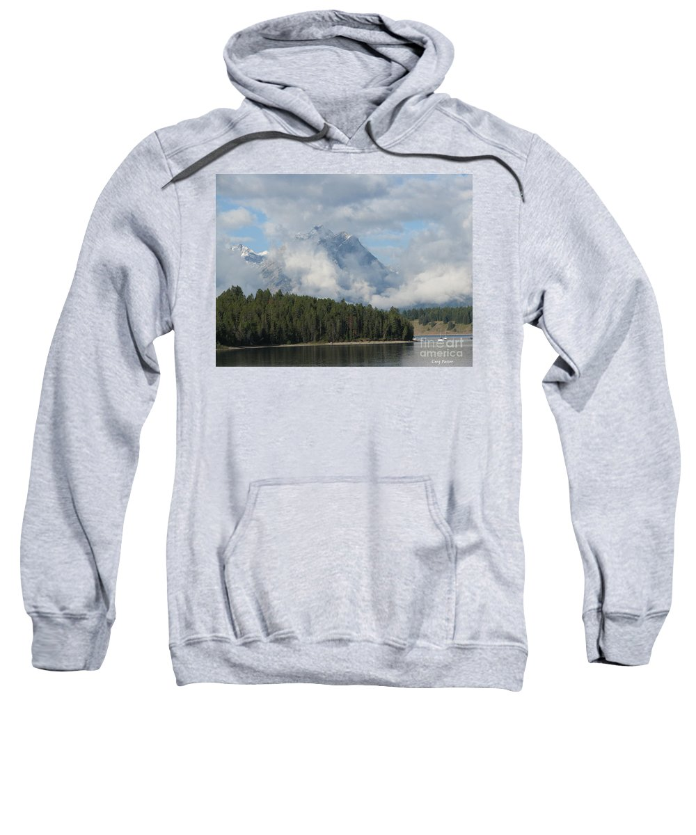 Patzer Sweatshirt featuring the photograph Dam Clouds by Greg Patzer